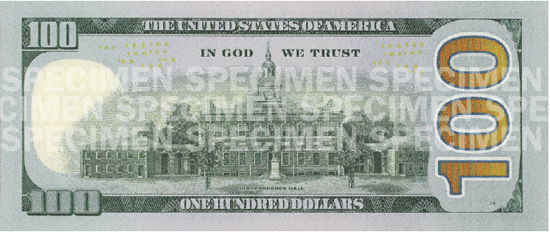 Image of New 100 Dollar Bill US